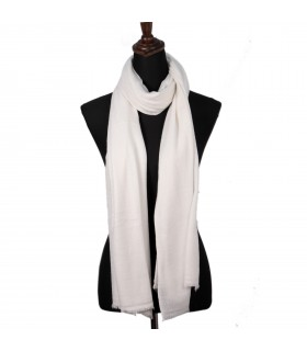 Cashmere Pure White Shawls From Nepal